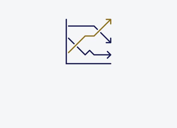 Line graph illustration