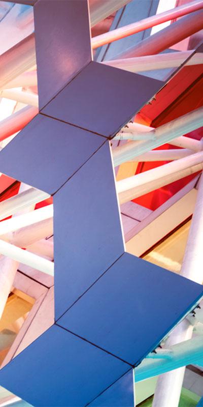 futuristic building
