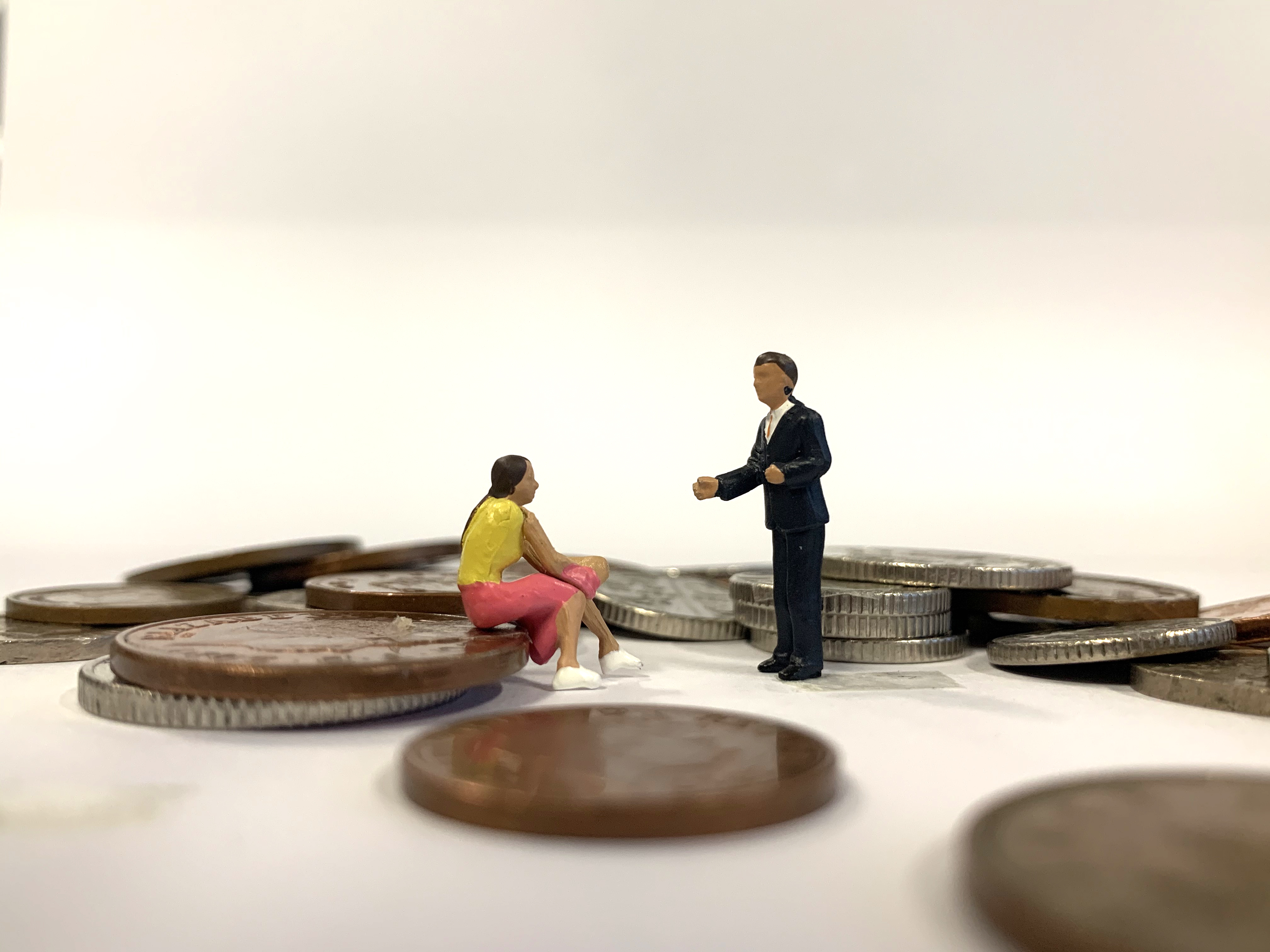 Sitting on coins