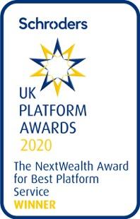 Schroders award logo best platform service
