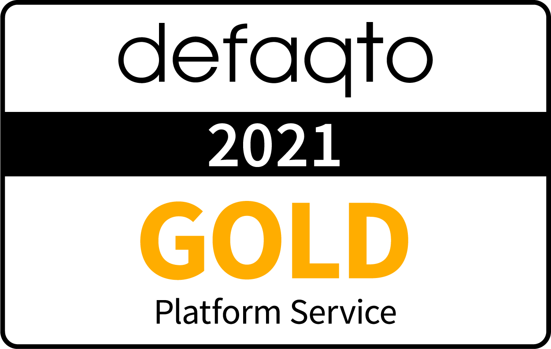Defaqto Adviser Platform gold award logo 2021