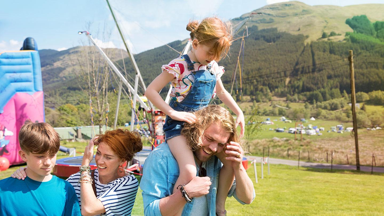 Family enjoying festival