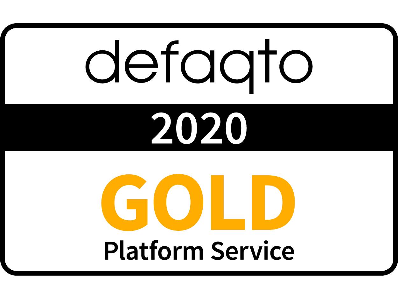 Defaqto Platform Service award logo 2020