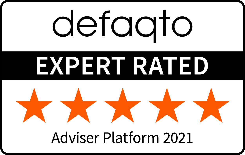 Defaqto Adviser Platform award logo 2021