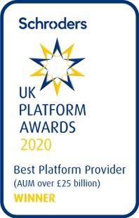Schroders award logo best platform 25 billion