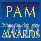 Blue square box with - Private asset manager (PAM) awards 2020