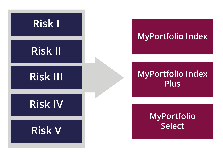 Choice of risk level Risk levels image