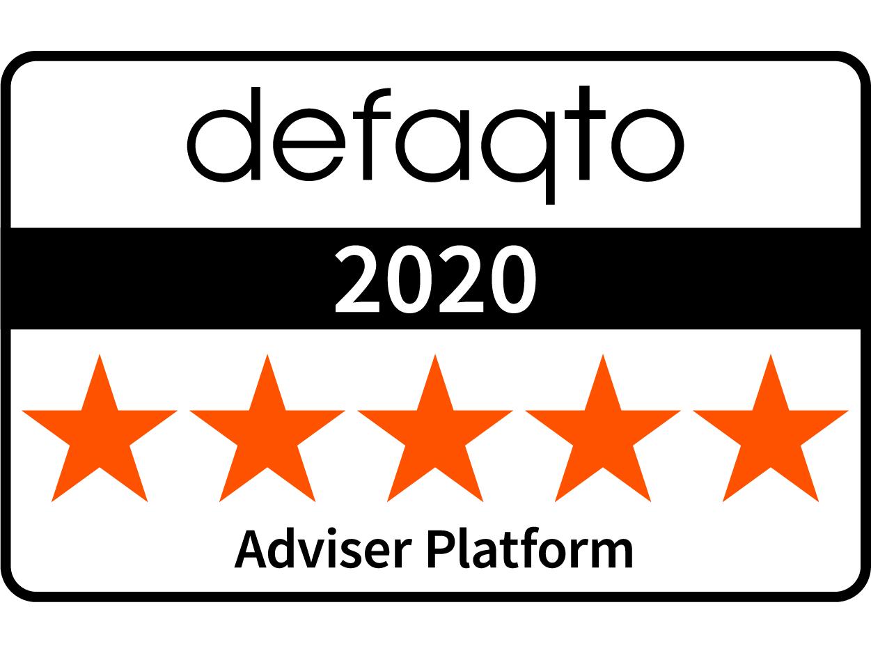 Defaqto Adviser Platform award logo 2020